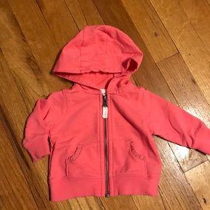 Coral newborn hoodie